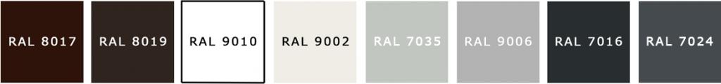 ZPU Blachy oferuje wiele wariantów kolorystycznych swoich produktów